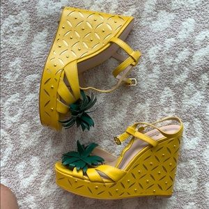 Shoes - Kate spade pineapple wedges